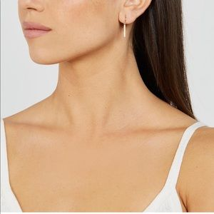Jennifer Meyer 18k gold diamond long drop earrings